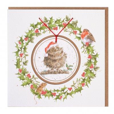 'Christmas Owl' Christmas Decoration card