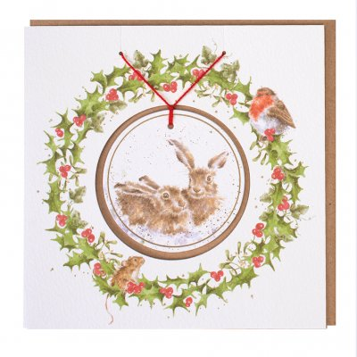 'Warm Wishes' Christmas Decoration card