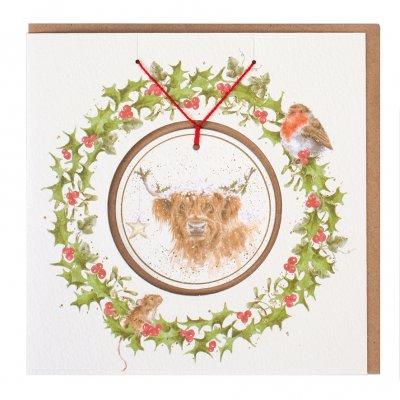 'Highland Star' Christmas Decoration card