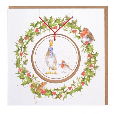 'Christmas Scarves' Christmas Decoration card