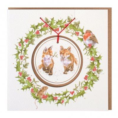 'Glad Tidings we Bring' Christmas Decoration card