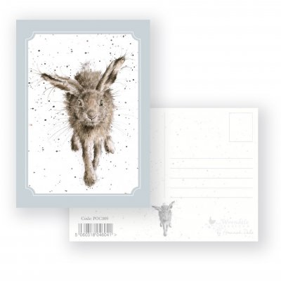 POC009 'Little Grey Hare' Postcard